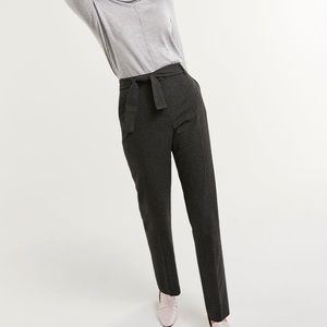 High Rise Tie Waist Trousers